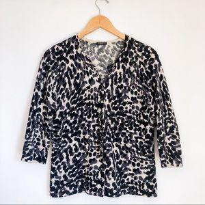 Magaschoni   Animal Print Cardigan Cheetah Leopard